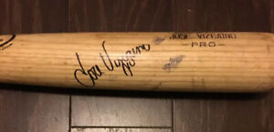 JOSE VIZCAINO Signed Autograph Game Used Baseball Bat Beckett BAS T09740 Yankees