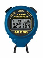 Accusplit Ax725 Dual Line 16 Memory Pro Stopwatch Blue Free Shipping