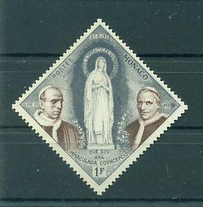 Monaco-1958-Y-amp-T-n-492-Apparitions-de-Lourdes