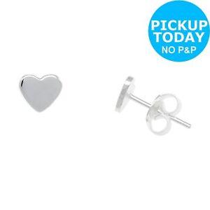 f8ba27fcca404 Revere Sterling Silver Heart Stud Earrings | eBay