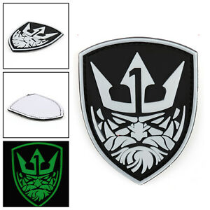 Glow-Medal-Of-Honor-Moh-King-Neptune-Tactical-Airsoft-Pvc-Hook-Loop-Patch