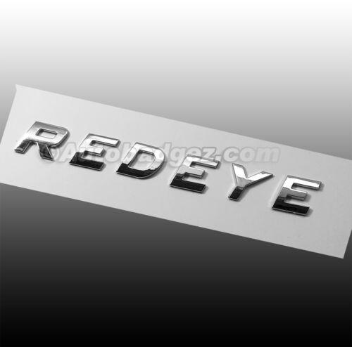 Brand New 3D adhesive REDEYE RED EYE chrome lettering emblem badge emblem IT 1