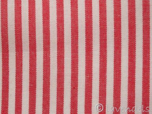 Tela de algodón ♥ rayas rojas ♥ a rayas 0,3