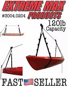 Extreme Max 120 lb Capacity Kayak Hoist for Garage
