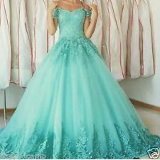 Glamorous Sweetheart Lace Appliques Ball Gown Prom Dresses Vestidos de 15 Gowns