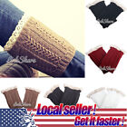 US LOCAL Womens Crochet Knit Lace Trim Leg Warmers Cuffs Toppers Boot Socks
