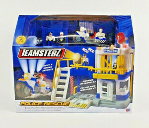 Official-Teamsterz-Police-Rescue-amp-Prison-Playset-Light-Sound-Kids-Toy-Gift