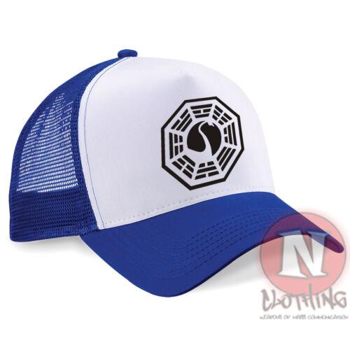 Dharma Initiative cap Half mesh retro trucker baseball hat Lost Oceanic airlines