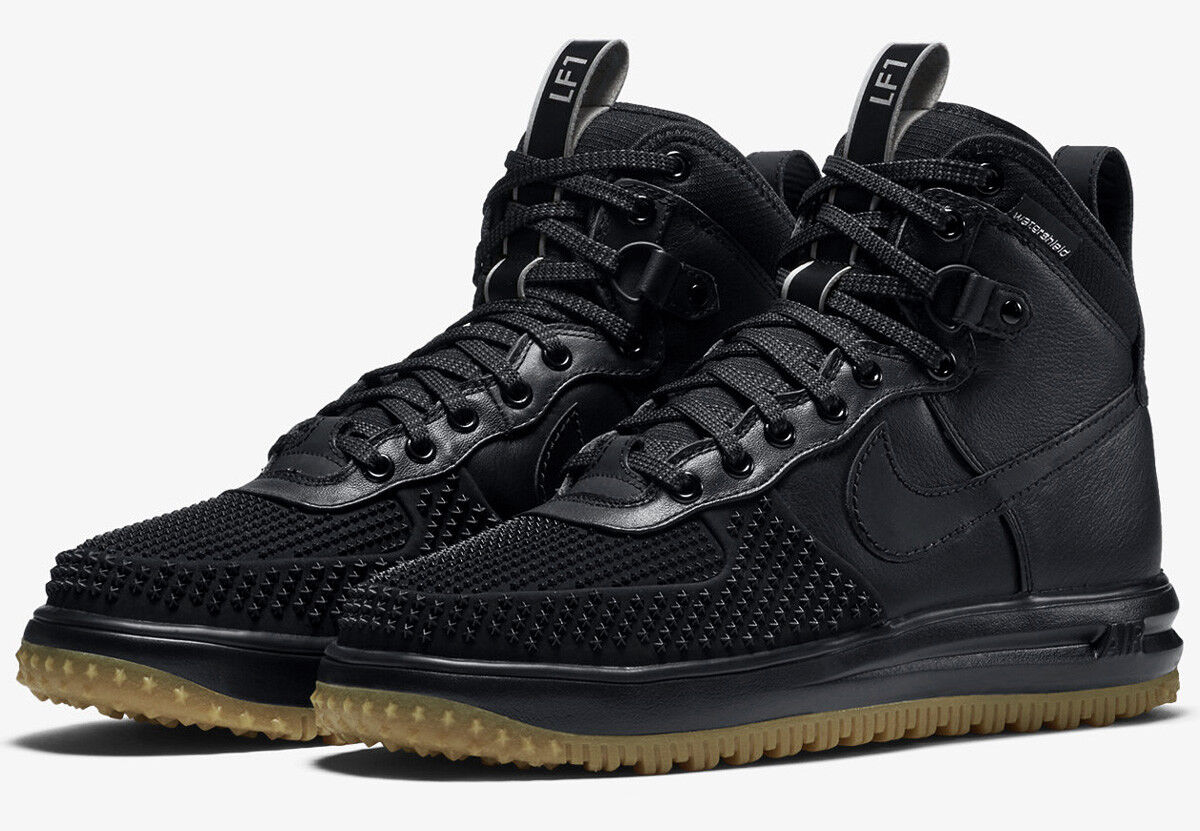 NIKE LUNAR FORCE 1 DUCKBOOT BLACK Gr.38,5 US6 air 805899-003 flyknit acg lupinek