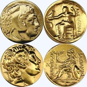 Alexander-the-Great-2-Greek-Coins-Percy-Jackson-Fans-Greek-Mythology-1-34-G
