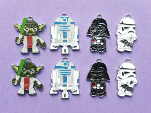 STAR WARS CHARACTER YODA R2D2 Metal Charms jewellery Party Bags choose no.