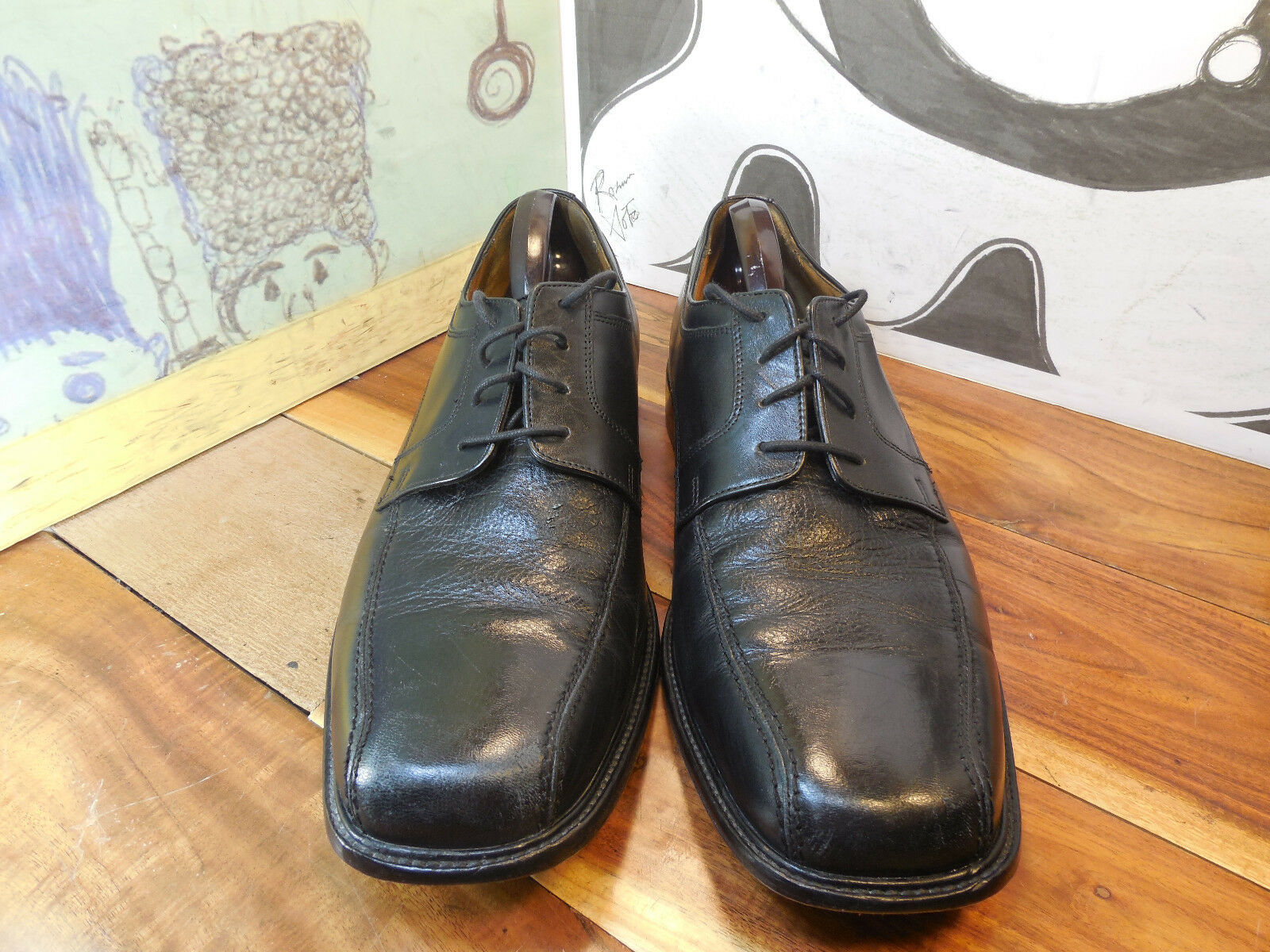 Bostonian Black 13M Leather Oxfords Men's 13M Black Made in India 380485