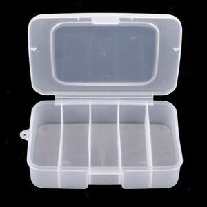 Fly Fishing Flies Lure Bait Case Clear Tackle Box Jigs Hooks Storage Holder