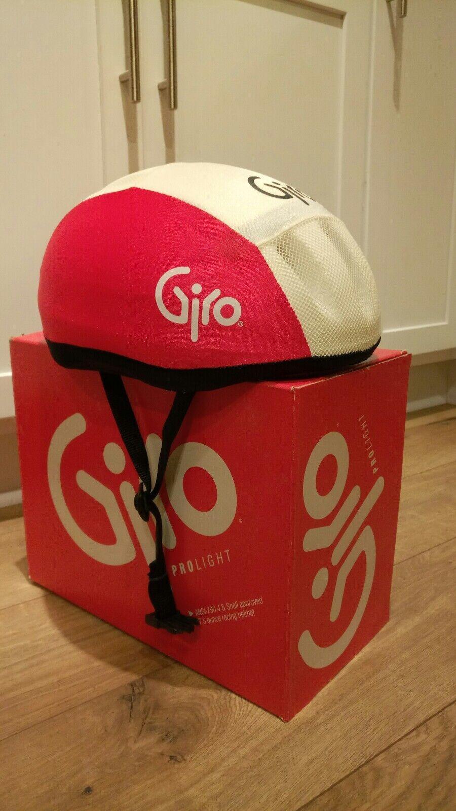 Vintage Giro Pro light 7.5 oz bicycle racing helmet Prolight medium 1985