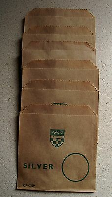 SIX bags in one lot 1969  ANZ paper coin bags for SILVER coins as NEW