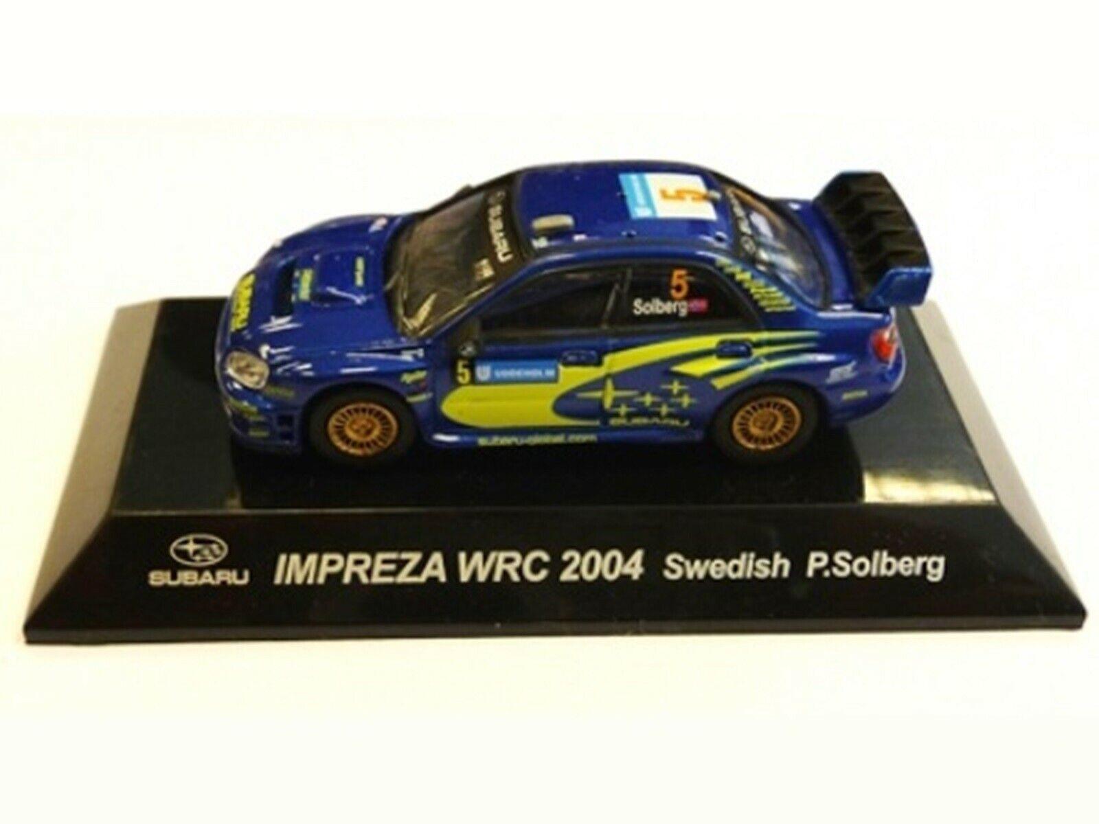 Wow extrêmement rare SUBARU IMPREZA 2005 S10 Solberg Suède WRC 1 64 cm 'S KYOSHO