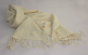 Fair Trade and hand-woven Bolivian Alpaca Scarf (range of natural colours)