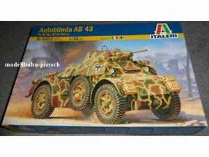 neu in OVP 1//35 Italeri 6451  Autoblinda AB 43  Bausatz // Kit 1:35