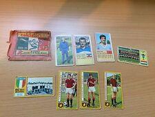 Lotto di 8 figurine 1969/70 1970/71 Calciatori Panini mai attacate + Bustina