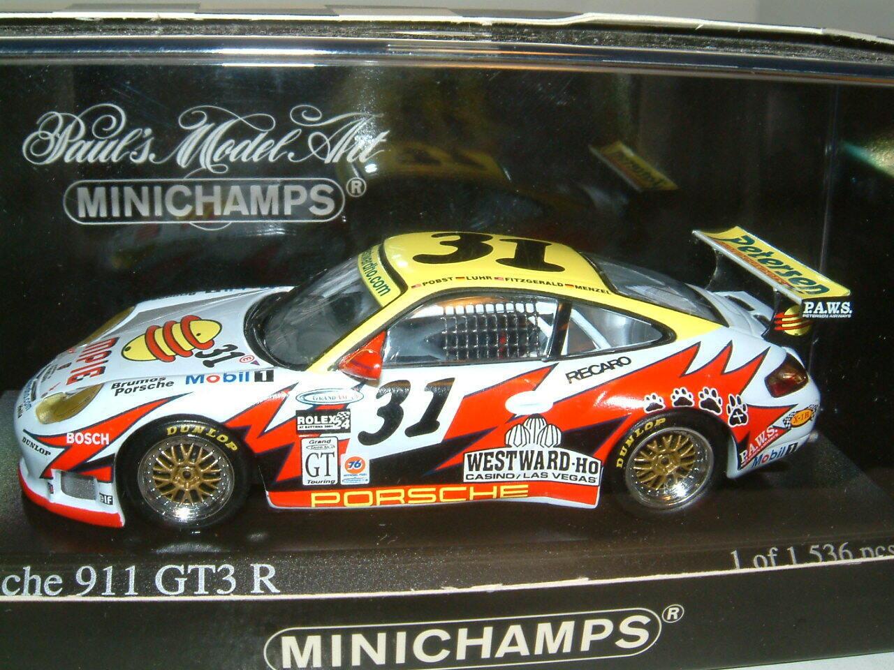 1  43 PORSCHE 911 GT3R DAYTONA, GT WIN, LUHR  FITZGERALD. MINISTAMPS