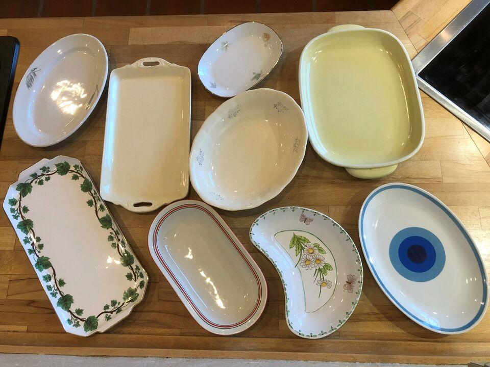 Porcelæn, Fade/skål