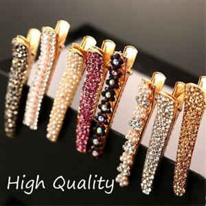 Metal-Barrette-Bling-Crystal-Hairgrip-Hair-Clips-Pearl-Hairpins-Rhinestone-Pins
