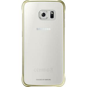 3915912d45 NEW Genuine Official Samsung Galaxy S6 Edge Clear Cover Case - Gold ...