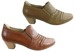 Brand New Scholl Orthaheel Hilary Ii Womens Leather Comfort Mid Heel Shoes