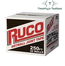 Ruco Drywall Joint Tape 250 Ft 20 Rolls