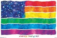 PRIDE FLAG POSTER - 24x36 PEACE LOVE TOLERANCE LBGTQ 11255