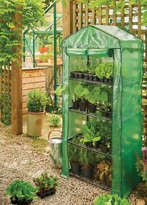 Grow it New 4 Tier Growhouse with Heavy Duty Cover Garden Greenhouse 08718