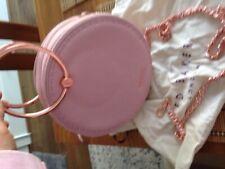 Ted Baker Marina Mosaic Stripe Mini Crossbody Bag Navy Gold Pink NWT