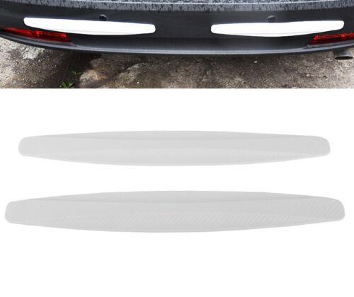 2× Car Bumper Protector Corner Guard Scratch Sticker Carbon Fiber Texture Rubber