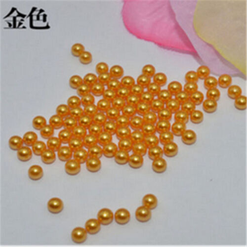 Wholesale 5000-10000pcs 2mm//4mm No Hole  Round Acrylic Beads DIY Full Color