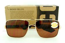 New Costa Del Mar Sunglasses NORTH TURN Rose Gold Copper 580P Polarized