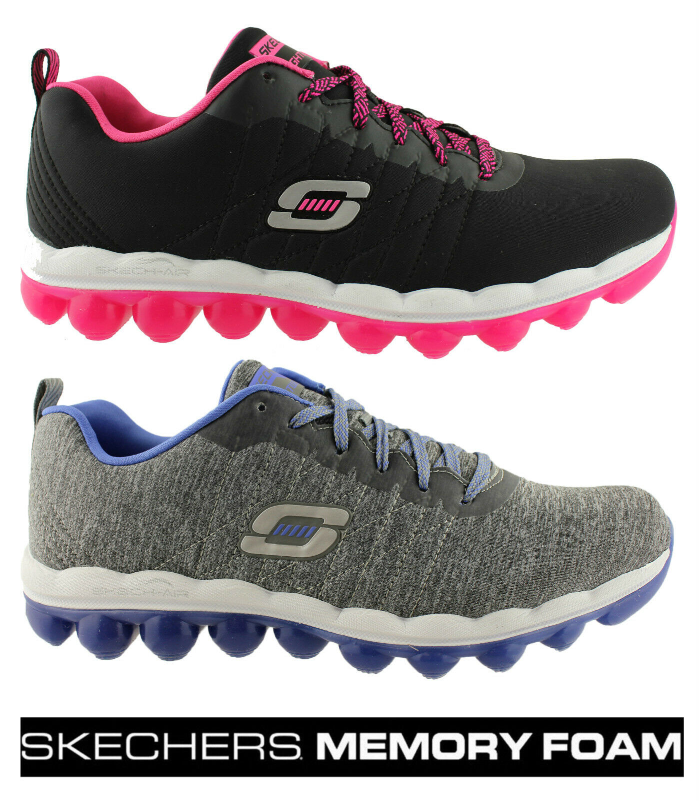 SKECHERS femmes  SKECH AIR SUNSET GROOVE MEMORY FOAM LACE UP SNEAKERS/ Chaussures