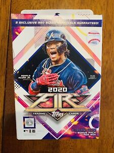 2020 Topps FIRE Baseball Hanger Box FACTORY SEALED Red Blaze Exclusive Robert ?