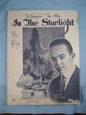 Whisper To Me In The Starlight Sheet Music Vintage 1922 John Steel Jarnagin (O)