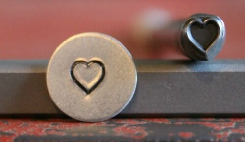 SUPPLY GUY 5mm Heart Metal Punch Design Stamp SGC-25 Made in the USA