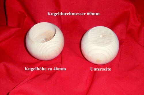 Teelichthalter aus Holz Holzkugeln gebohrt mit Bohrung Dm 60mm 80mm 90mm 100mm