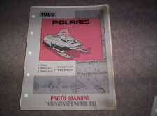 Vintage Snowmobile Polaris 1989 Trail ES SKS Deluxe Special Parts Manual