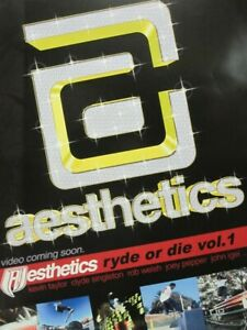 Aesthetics-Skateboard-2001-Ryde-Or-Die-Vol-1-promo-poster-Flawless-New-Old-Stock