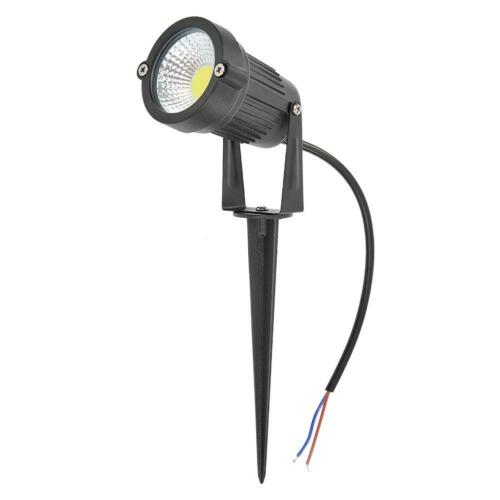 Solar LED Spotlight Garden Yard Spike Light Outdoor Pathway Wall Lamp Waterproof