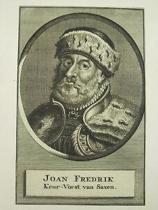 Brillant Johann Fredrik Sachsen Magnanime Ligue Protestante Protestant Schmalkalden Xviie