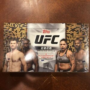 1-Sealed Pack 2020 Topps UFC Hobby Box - 2 Autographs AUTO per Box