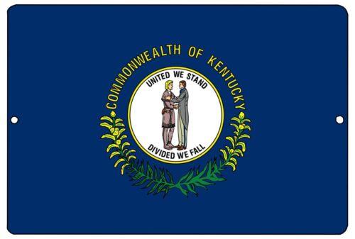Kentucky State Flag Metal Tin Sign Wall Decor Man Cave Bar KY