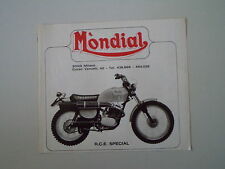 advertising Pubblicità 1975 MOTO MONDIAL 125 RCE SPECIAL