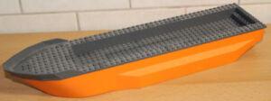 LEGO-Schiff-Rumpf-51x12x6-orange-dunkelgrau-62791c01-Kuestenwache-Arktis