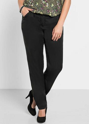 pieghe Slim 22 Sheego 54 a Fit £ Plus neri Pantaloni Size Kaleidoscope strette wtrzqUt0