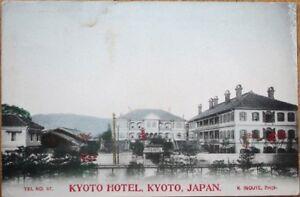 Kyoto-Japan-1910-Hand-Colored-Postcard-039-039-Kyoto-Hotel-039-039